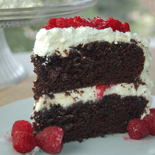 wicked chocolate cake slice