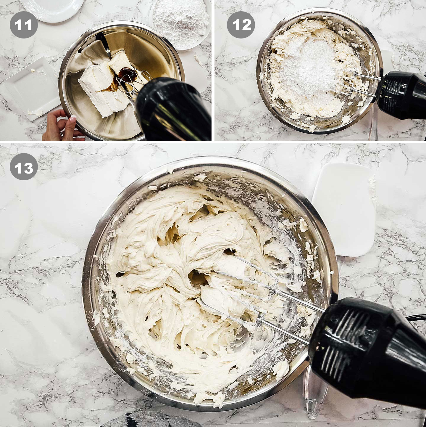 how to make cream cheese frosting step by step instructions.