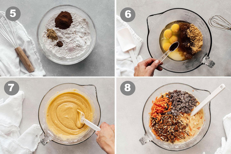 how to make Carrot Cake steps 5-8.