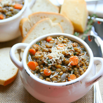 lentil soup from amy in the kitchen