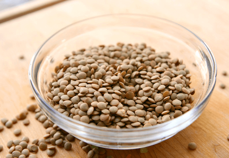 dried lentils in a bowl.
