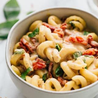 Creamy Sun Dried Tomato & Basil Pasta | Dairy Free