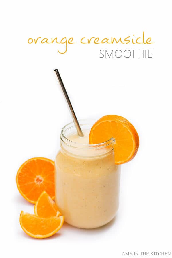 Orange Creamsicle Smoothie | A delicious way to get a natural vitamin C boost and start building your immune system for the cold weather! | AmyintheKitchen.com