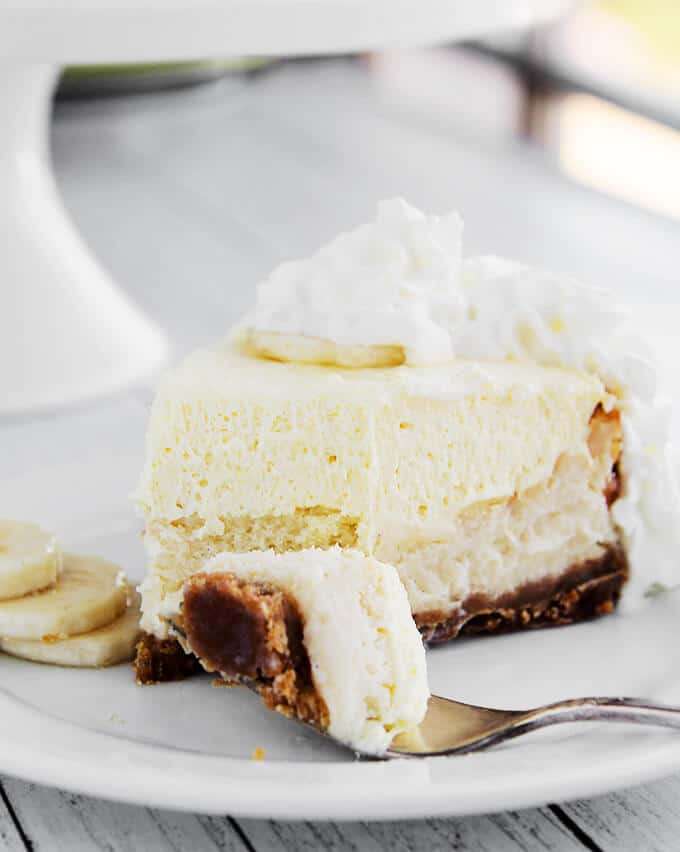 The Ultimate Banana Cream Pie Cheesecake from Amy in the Kitchen
