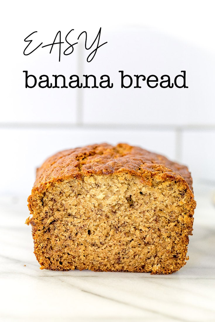 This is an Easy Banana Bread recipe that makes a soft and moist banana bread. Perfect recipe for ripe bananas. #bananabread #easybananabread #quickbananabread #nofail #nofailbananabread via #amyinthekitchen