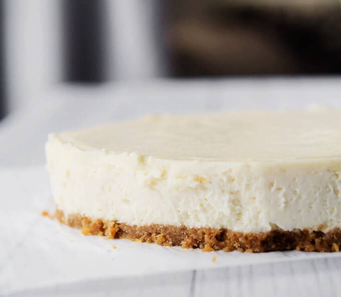 Side view of Cheesecake