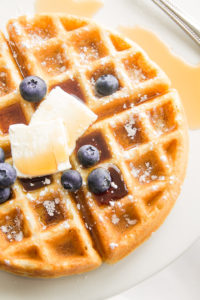 Gluten Free Waffles with syrup