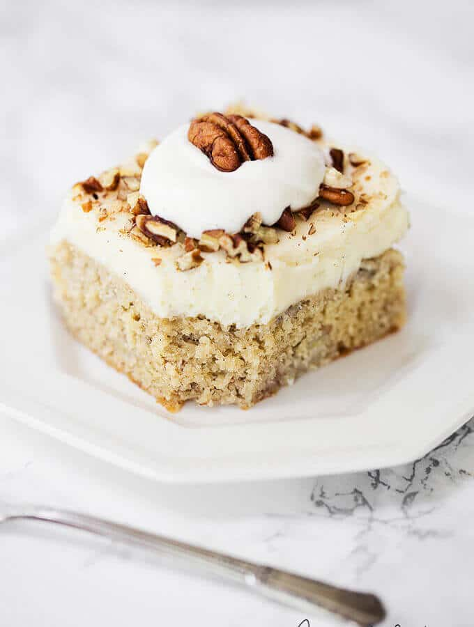 Best banana cake recipe in the world! This recipe is so moist and fluffy. A moist banana cake recipe from scratch!