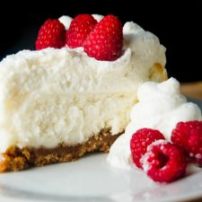 Vanilla Bean Cheesecake with White Chocolate Mousse