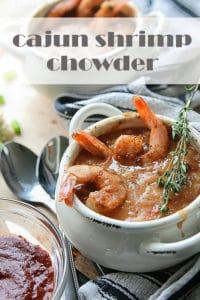 bowl of cajun shrimp chowder
