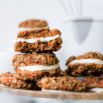 carrot cake cookies on a platter
