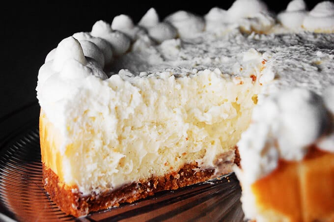 The BEST Vanilla Bean Cheesecake EVER! This is a Cheesecake Factory copycat. It's an eggless cheesecake and it's to die for!!