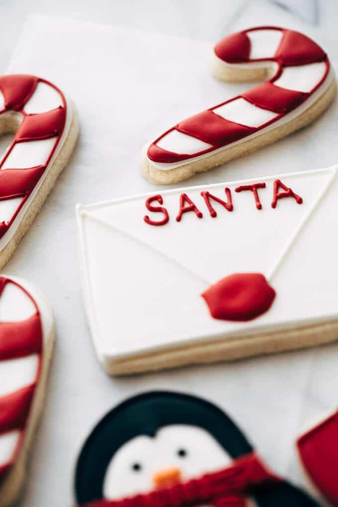 note to santa sugar cookie.