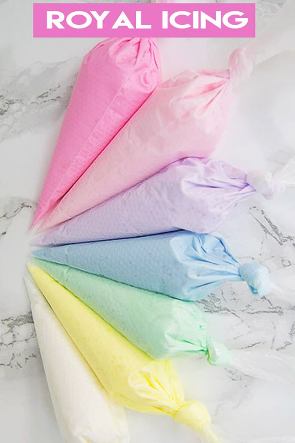 royal icing in bags