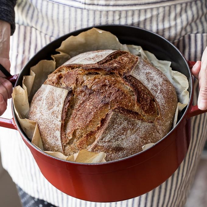 baked sourdough bread