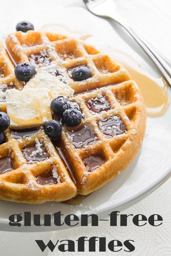 Gluten Free Waffles are a delicious gluten free alternative to your favorite breakfast recipe! #glutenfreewaffles #glutenfreebreakfast #glutenfree #waffles #recipe #breakfast