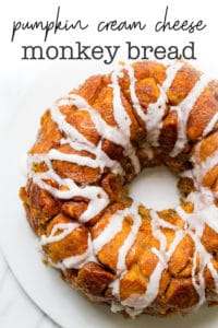 pumpkin cream cheese monkey bread recipe