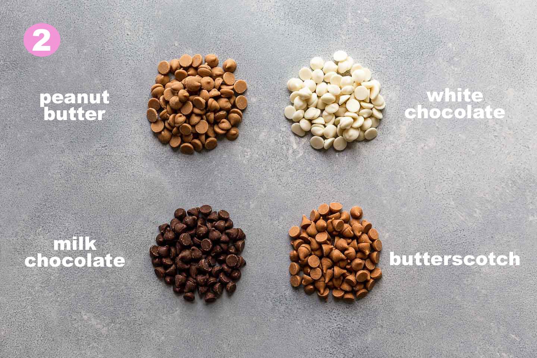 birds nest cookies chocolate options