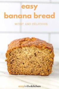 banana bread sitting on kitchen counter