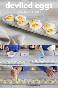 deviled eggs with process shots