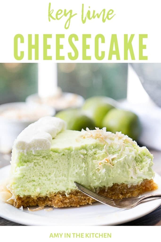 key lime cheesecake slice