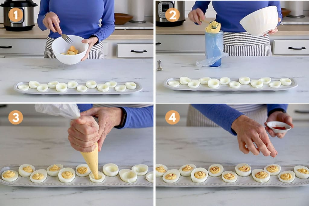 steps to make deviled eggs