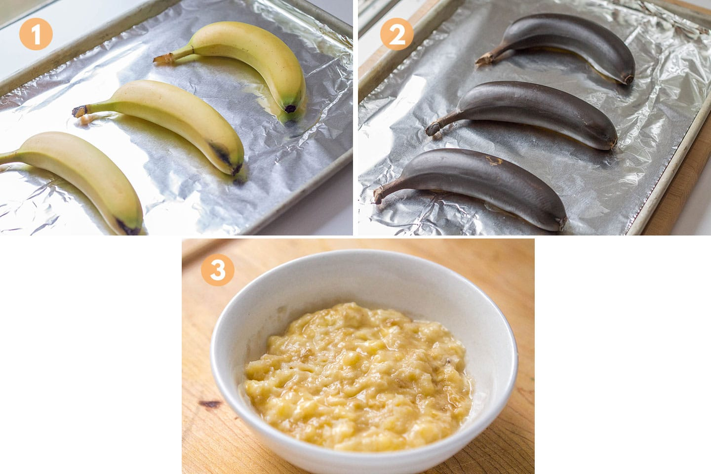 bananas being ripened in the oven.