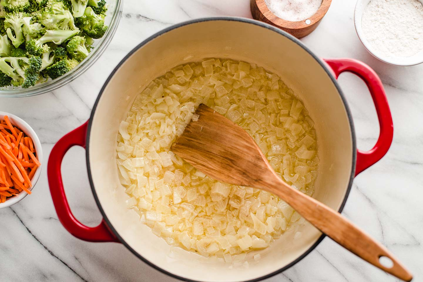 Onions sauted in butter.