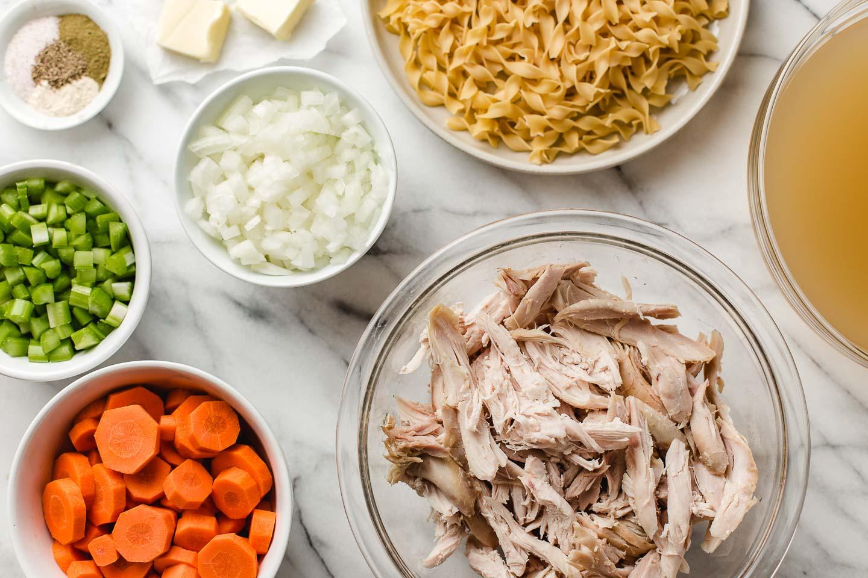 Ingredients in bowls.