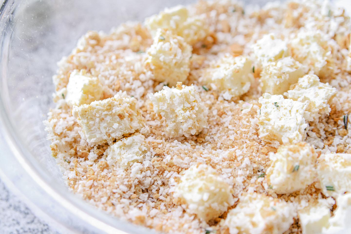 Panko crumb topping in a bowl.