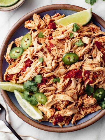 Instant Pot Mexican Shredded Chicken recipe.